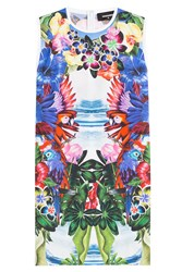 Dsquared2 Mirrored Print Cotton Dress Florals