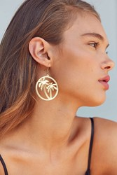 Zhuu Palm Tree Drop Earring Gold