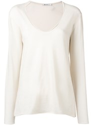 Alexander Wang T By Scoop Neck Sweatshirt Women Merino M Nude Neutrals