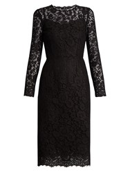 Dolce And Gabbana Cordonetto Lace Fitted Dress Black