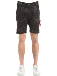 Alpha Industries Camouflage Cotton Chino Shorts