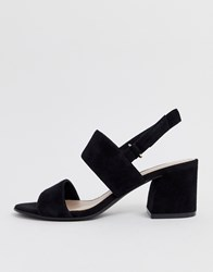 Aldo Arievia Suede Flared Block Heeled Sandals In Black Black