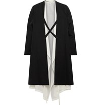 Sasquatchfabrix. Layered Wool Coat Black