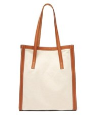Connolly Canvas And Leather Tote Bag Beige Multi