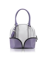 Pineider 1774 Limited Edition Mini Bowling Leather Bag White Lilac
