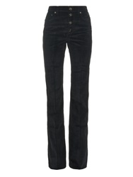 Sonia Rykiel Flared Cotton Blend Corduroy Trousers