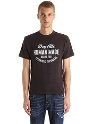 Human Made Printed Cotton T Shirt