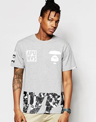 Aape By A Bathing Ape Theme T Shirt Grey
