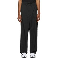 Y 3 Black Twill Wide Trousers
