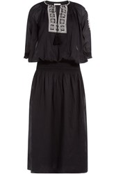 Mes Demoiselles Cotton Dress With Embrodiery Black