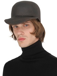 Reinhard Plank Usa Wool Leather Effect Waxed Hat