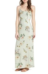 One Clothing Floral Print Maxi Dress G863 Sage Floral