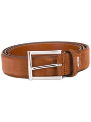 Santoni Classic Belt Men Suede 110 Brown