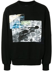 Juun.J Photographic Print Sweatshirt Black
