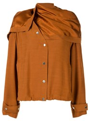 3.1 Phillip Lim Removable Scarf Jacket Brown