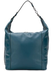 Bottega Veneta Milano Ny Tote Bag Blue