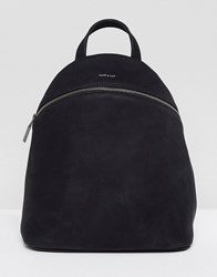 Matt And Nat Aries Black Faux Suede Backpack Black