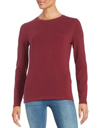 Lord And Taylor Petite Compact Tee Raspberry Wine
