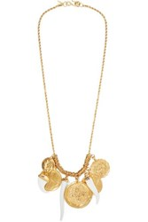 Kenneth Jay Lane Gold Plated And Resin Necklace One Size