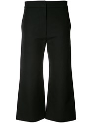 Marni Cropped Flared Trousers Women Cotton 36 Black
