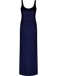 Osklen Long Velvet Dress Blue