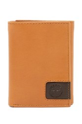 Timberland Cloudy Logo Leather Trifold Wallet Brown