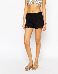 Oysho Lace Detail Beach Short Black