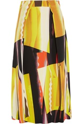 Kenzo Spray Collage Printed Stretch Crepe Midi Skirt