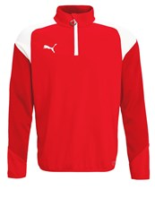 Puma Esito Long Sleeved Top Red White Chili Pepper