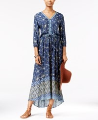 American Rag Printed High Low Maxi Dress Only At Macy's Dark Denim