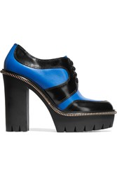 Marc By Marc Jacobs Two Tone Leather Ankle Boots Blue