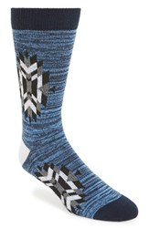 Richer Poorer Men's Tribute Compression Crew Socks Navy Heather Black