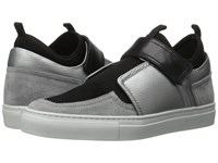 Furla Fantasia Sneaker Silver Marmo Vitello Monet Metal Suede Women's Shoes Black