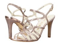 Anne Klein Insists Light Pink Silver Leather High Heels Gold
