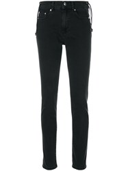 Mcq By Alexander Mcqueen Lace Up Harvey Jeans Cotton Spandex Elastane Black
