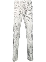 Fagassent Coated Skinny Jeans White