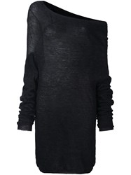 Lost And Found Ria Dunn One Shoulder Jumper Black