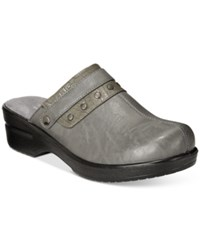 Easy Street Shoes Ozone Mules Women's Grey Combo