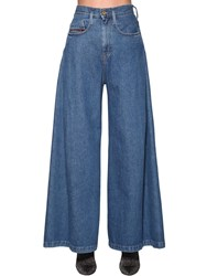 Diesel Izzier High Rise Wide Leg Denim Jeans Blue