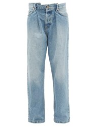 Raey Fold Dad Baggy Boyfriend Jeans Light Blue