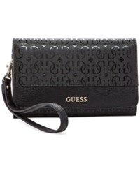 Guess Janette Phone Organizer Wallet Black