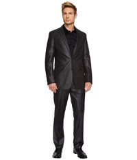 Kenneth Cole Reaction Slim Fit Dark Grey Sheen Suit Charcoal Suits Sets Gray