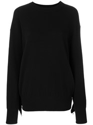 Laneus Pearl Embellished Jumper Wool Polyamide Brass Black