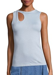 Public School Caia Cotton Cutout Tank Top Sky