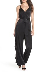 Ali And Jay Name Of Love Ruffle Jumpsuit Black