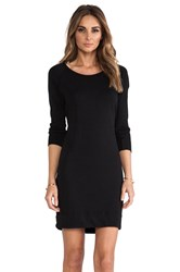 James Perse Raglan Sweatshirt Dress Black