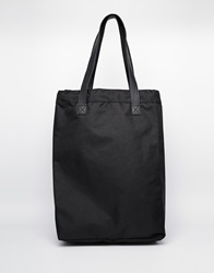 Monki Cotton Canvas Large Shoulder Bag Black