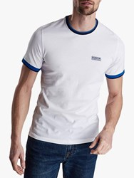 Barbour International Tipped Trim T Shirt White