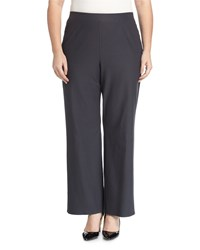 Eileen Fisher Plus Wide Leg Stretch Crepe Pants Graphite Grey