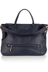 Halston Textured Leather Tote